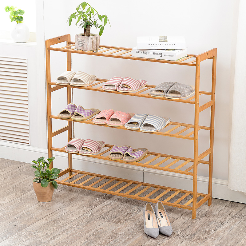 Shoe Racks Bamboo Assembled Type Solid Wood Multilayer Special Offer Shoe Hanger Room Natural Wood Household Shelves