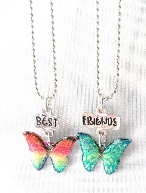 Kids Jewelry Children Best Friends Necklace Enamel Colorful