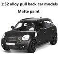1:32 aleación tire volver modelos de coches, alta simulación MINI coche, metal a troquel, automóviles de juguete, dos abiertos la puerta, pintura mate, envío libre