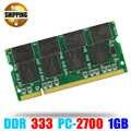 ノートパソコンメモリram so-dimm pc2700 ddr 333/266 mhz 200pin 1ギガバイト/ddr1 ddr333 pc 2700 333 mhz 200ピン用ノートブックsodimmメモリアラム