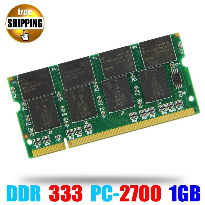 Laptop de Memória Ram SO-DIMM PC2700 DDR 333/266 MHz 200PIN 1 GB/DDR333 DDR1 PC 2700 333 MHz 200 PINOS Para Notebook Sodimm Memoria