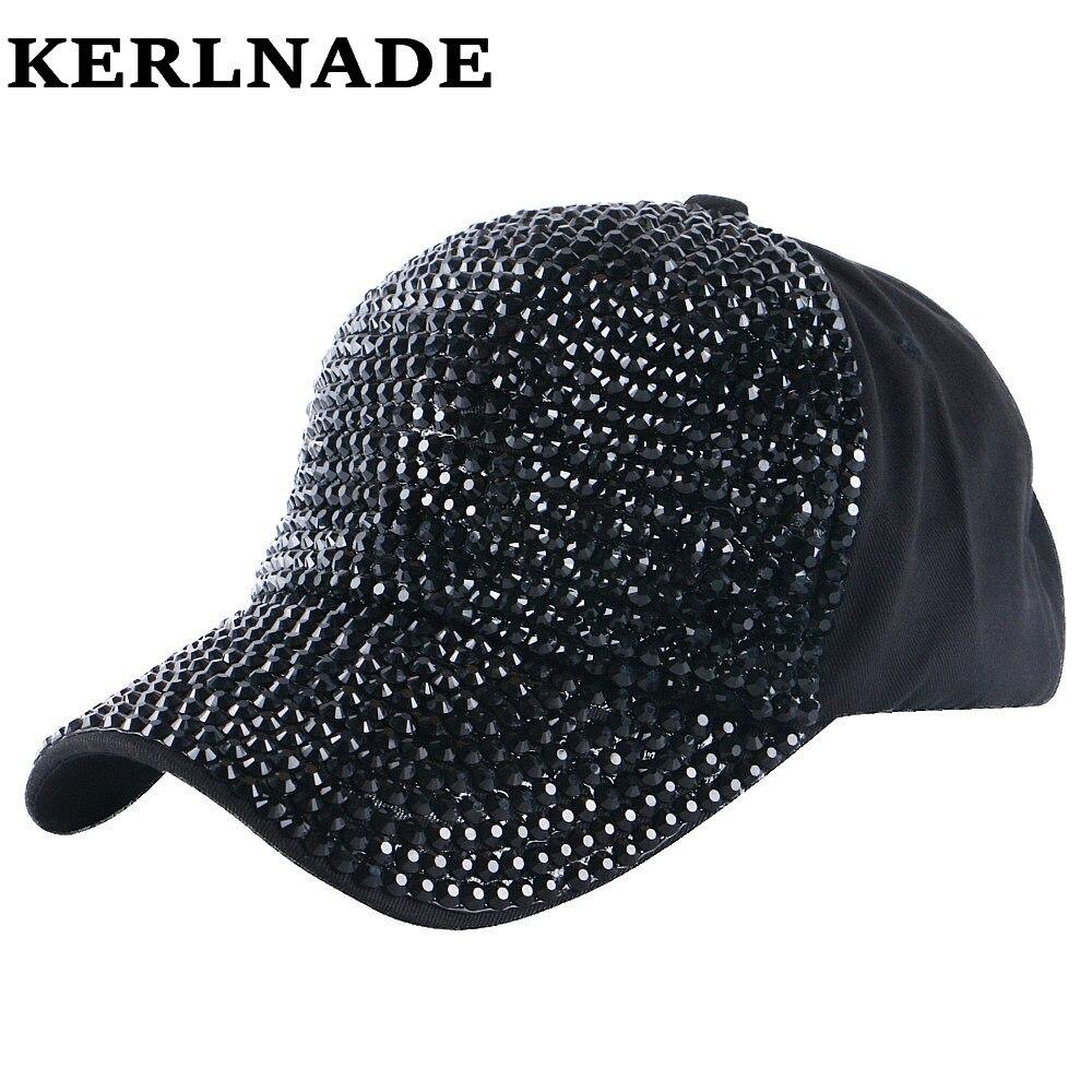 Prix pour Haute Qualité FEMMES marque casquette de baseball nouvelle mode strass cristal denim snapback caps en gros femme hip hop relances chapeaux