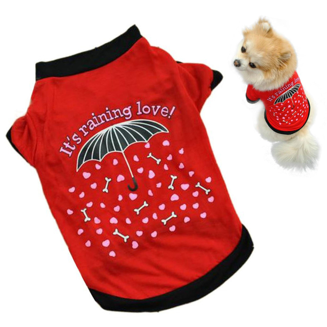 2017 dog clothing Pet Dog clothes small Costume cheap wears Clothes T-shirt Summer clothes for dogs