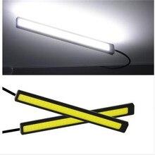자동차 러닝 라이트 cob 17 cm 슈퍼 밝은 자동차 러닝 라이트 led 러닝 라이트 울트라 얇은 방수 자동차 작업 빛에 대 한