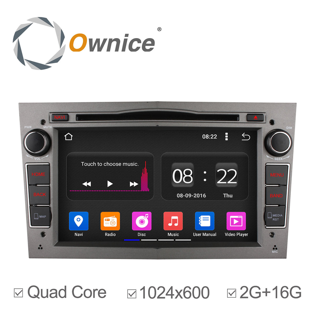 Ownice 2G RAM Quad Core Android 5.1 HD1024*600 Car Stereo