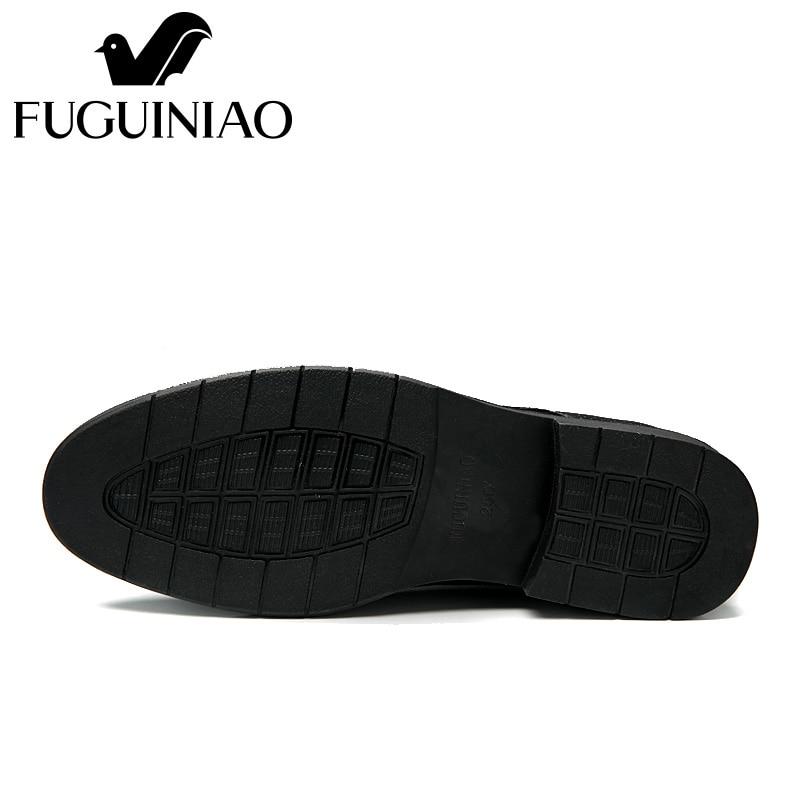 cdd05e4c68 De color Genuino Verano Fuguiniao Negro Zapatos envío Libre Hombres La  Manera Vestir ¡negocios Cuero Los qwOxYRd5q4