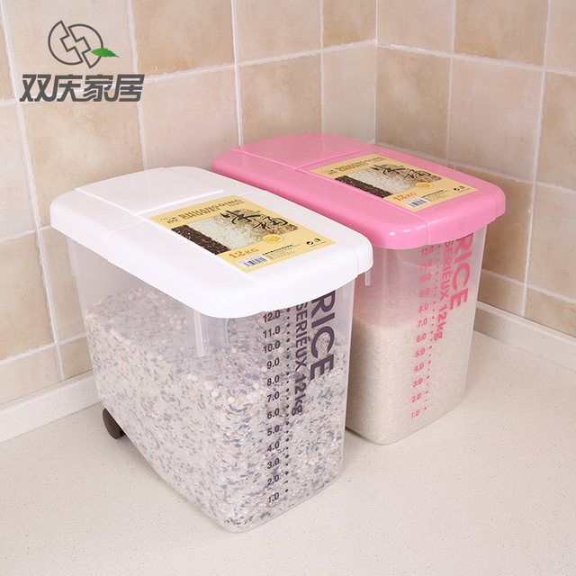 Large Rice Storage Container 12kg Rice Capacity in Storage Bottles