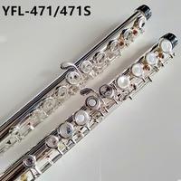 Лидер продаж японская флейта YFL 471 16 отверстия посеребренные поперечный Flauta обтуратор C Ключ с E ключ музыкальный инструмент Dizi