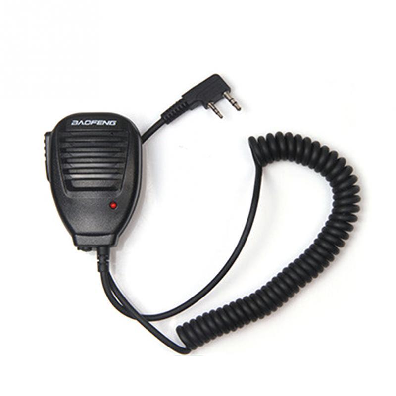 1pc H21 Interphone Microphone Speaker For Baofeng 888S 5R 5RA UV82 8D 5RE Speaker Mic Two Way Radio Headset