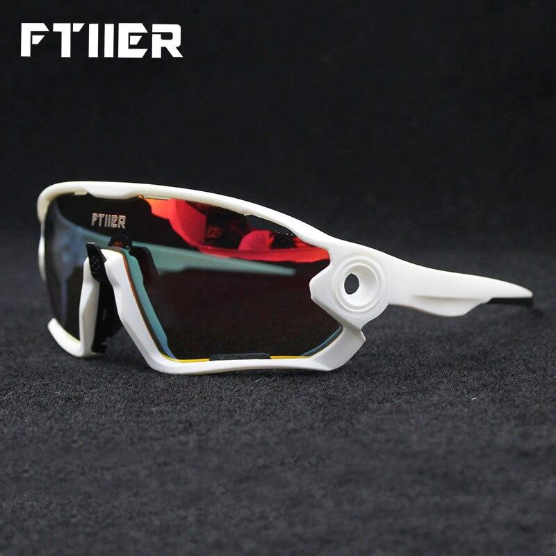 8685fc7804 Ftiier 5 lente fotocrmica Color ciclismo gafas polarizadas de montaña MTB  bicicleta de carretera bicicleta gafas de sol deportivas gafas de montar