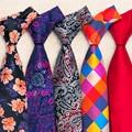 Oi-Tie 40 Estilo Mens Ties Gravata 2016 Clássico Jacquard Gravatas de seda para Homens Ternos De Negócio De Casamento 8.5 cm Macio Corbatas gravatás