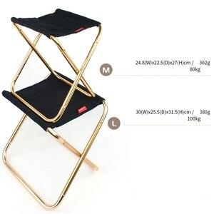 Image 4 - Vilead 2サイズ折りたたみためキャンプスツール超軽量7075アルミポータブルキャンプピクニック観光屋外折り畳み椅子