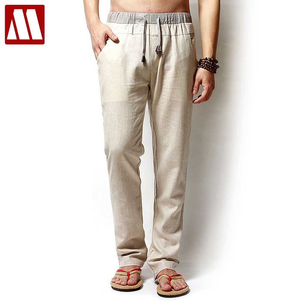 Aliexpress Com Buy Linen Pants Mens Loose Pants Man