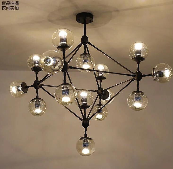 Simple creative retro 10 iron glass lighting chandeliers restaurants clothing stores office bedroom Chandelier m|bedroom chandelier|light chandelier|chandelier restaurant - title=