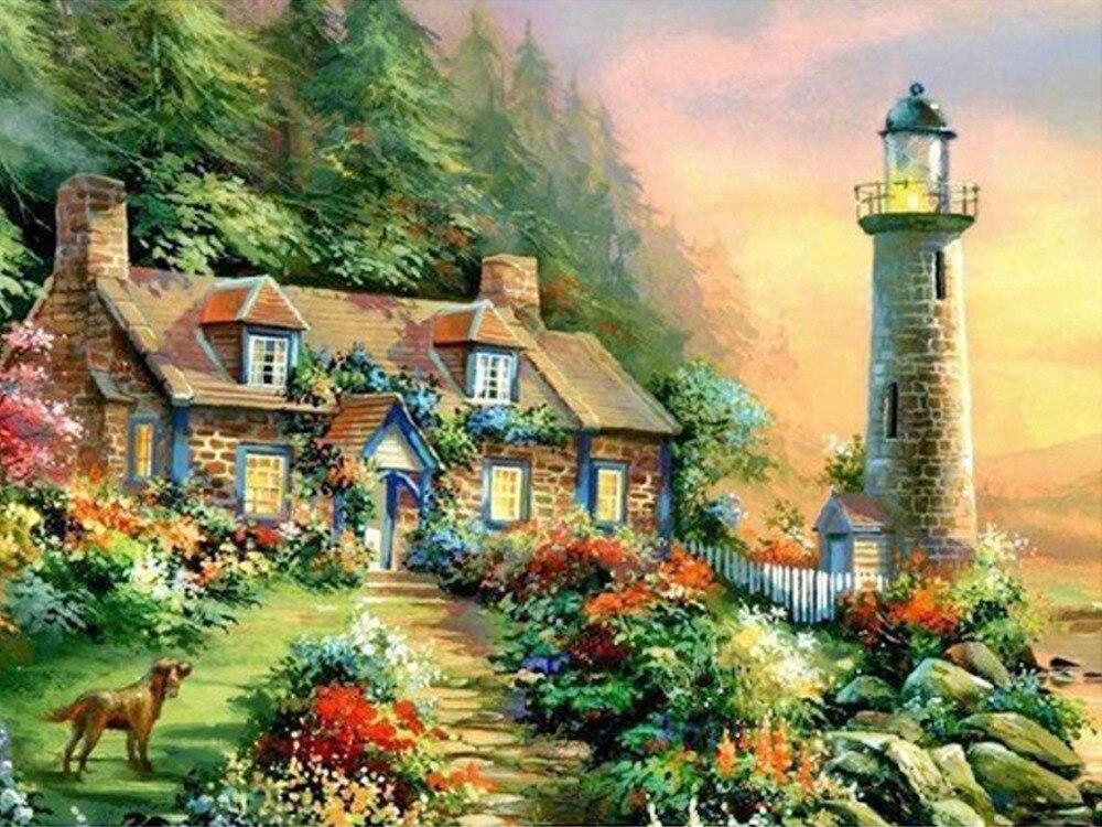 Buy 3d diy diamond painting dream garden for Dream home season 6