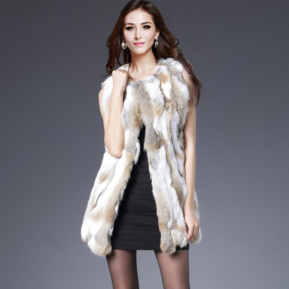 っfur Vest Women Rabbit ③ Fur Fur Vest Real Fur Coats ② For