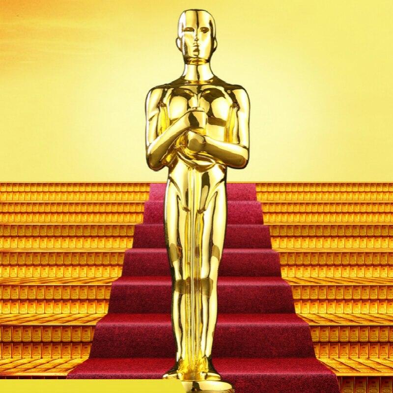 Nieuwe Aanpasbare Oscar Awards Natuurlijke Hars Oscar Beeldje Trofee Academy Award Voor Beste Acteur In Een Toonaangevende Rol Podium Souvenir