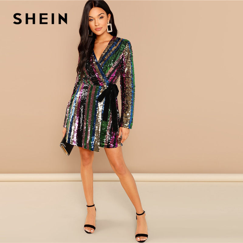 SheIn Kadın Renk Pullu