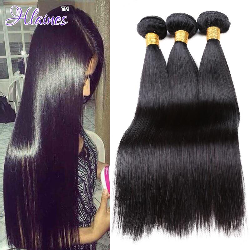 brazilian Virgin Hair Straight 3 Bundles Deal 8A Grade Unprocessed Human Hair Weave Grace Hair Products brazilian Virgin Hair