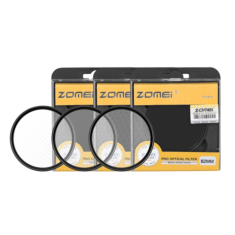 ZOMEI Star Filters Camera Lens Kit 4 Points 6 Points 8 Points Star Filter for Canon Nikon Sony Olympus DSLR Camera Accessories -9
