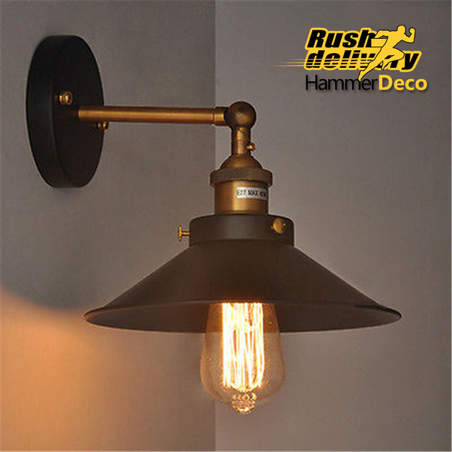 Industrial Retro Sconces Wireless Wall Lamp Vintage Indoor Modern Lighting For Bedroom Living Room