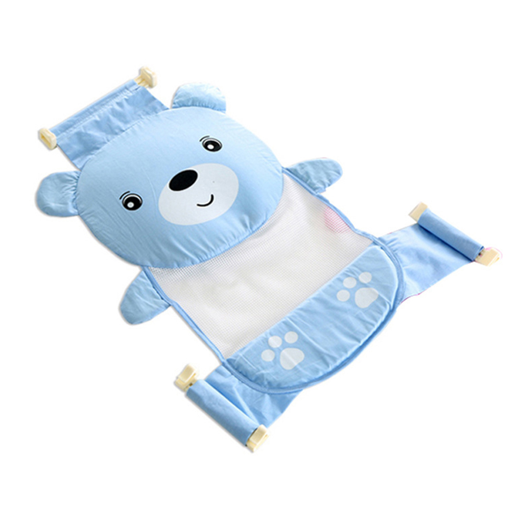 ③Adjustable Baby Bathtub Cartoon Pattern Bath Seat Newborn Safety ...