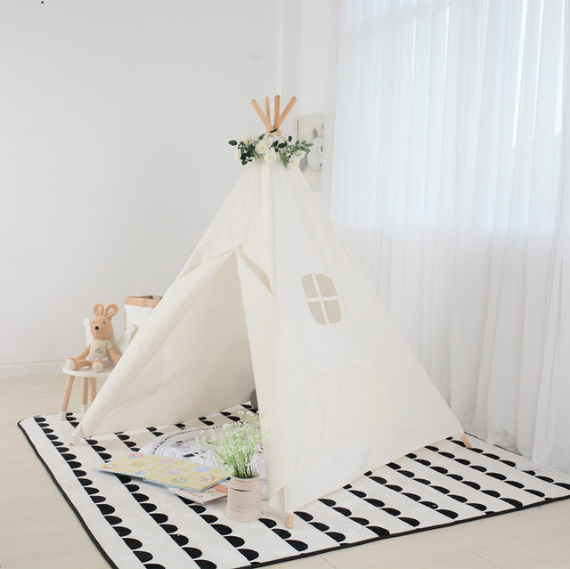 Love Tree Kids Teepee Tent Tipi Tent for kids White Children Play house Toy Kids Tents baby room children teepees for children  sc 1 st  Aliexpress & Online Shop Love Tree Kids Teepee Tent Tipi Tent for kids White ...