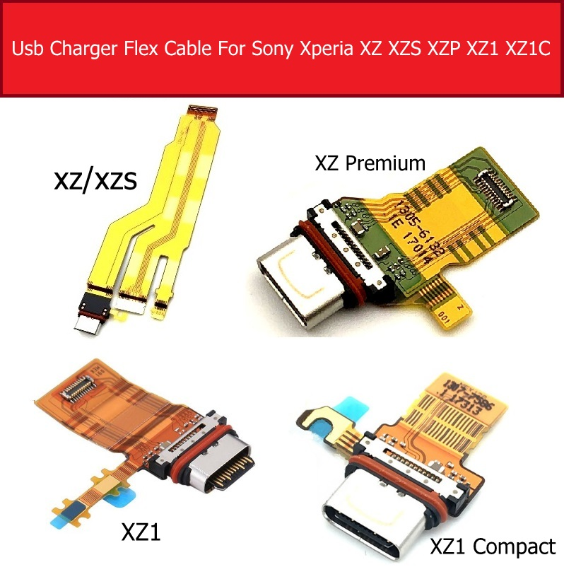 USB Charging Port Board For Sony Xperia XZ/ XZS/XZ Premium XZ1/XZ1 Compact Mini Charger Dock Socket Connector Module Flex Cable