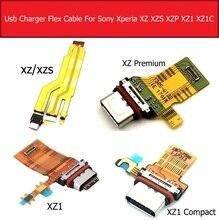 Usb placa de carregamento do porto para sony xperia xz/xzs/xz premium xz1/xz1 compacto mini carregador doca soquete conector módulo cabo flexível