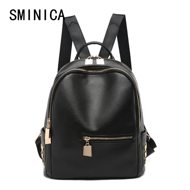 b46307e7ac ... cute small womens shoulder bag pu leather black backpack women Fashion  backpacks school travel ladies vintage ...