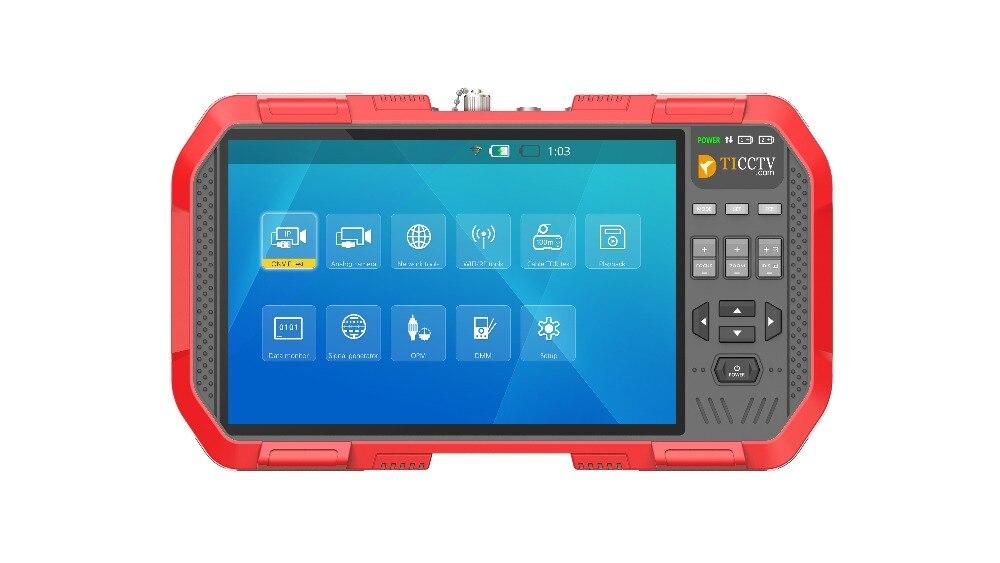 Nuovo 7 Pollici 5 In 1 H.265 4 K HD IP Monitor del Tester del CCTV AHD CVI TVI CVBS Camera di Prova 8MP ONVIF HDMI di Ingresso Multimetro in fibra Ottica