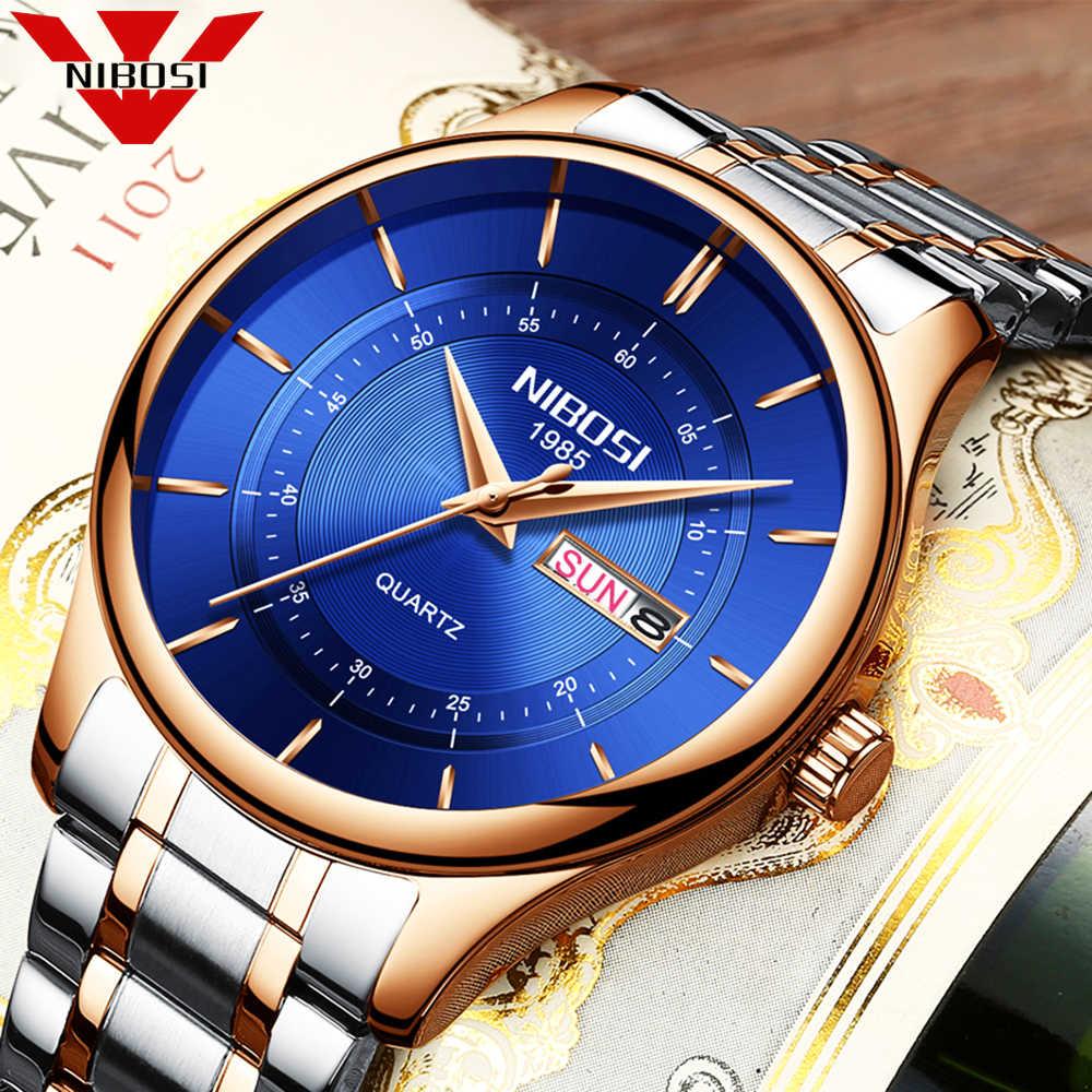 NIBOSI リロイメンズ腕時計トップブランドの高級男性のカジュアルクォーツ時計男性スポーツ防水腕時計レロジオ Masculino Montre