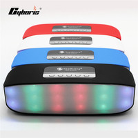 Cyboris Portable Colorful Light Bluetooth Speaker Wireless Stereo Loudspeakers Super Bass With TF USB FM For
