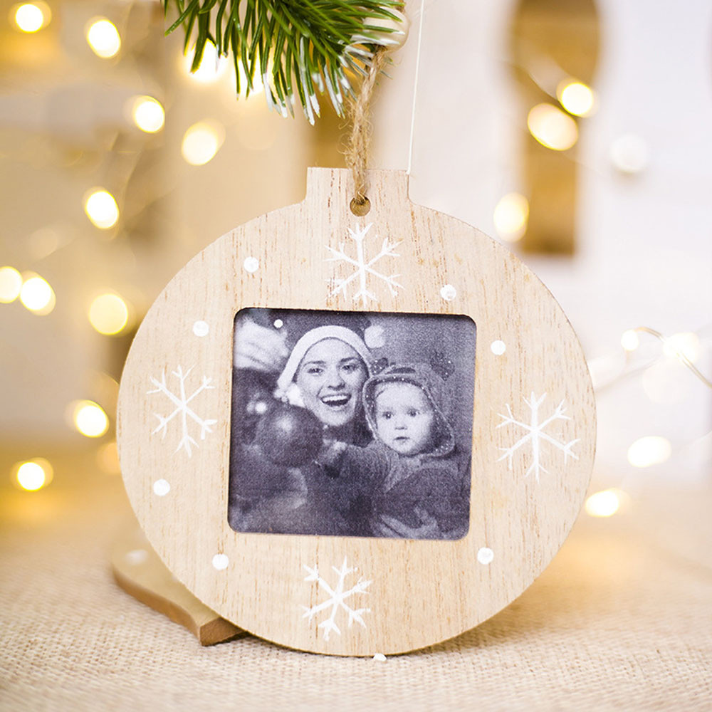 Charms Holiday-Picture-Frame Christmas Family Wood 2-Design Home-Decor Personalized Lovely
