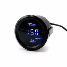 2″ 52mm Digital Wideband Oil Pressure Gauge voltage meter/auto gauge/car meter/parts Black Face Oil Press Gauge/Led light