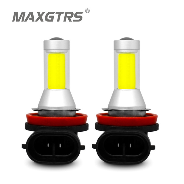 2x Car Fog Bulb H7 H8 H11 9005 9006 HB3 HB4 H16 H10 PSX24W COB LED Chips Lamp LED Daytime Runing Light DRL White Gold Ice Blue