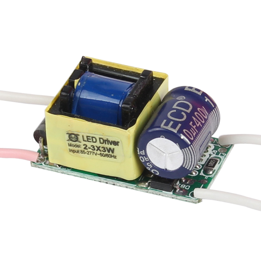WIZLIT Convert AC85-277V to DC6-10V LED Driver 2X3W 3X3W for 9W 10W LED Lighting Constant Current 900MA 0.9A.