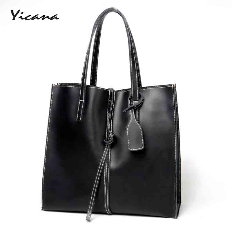 Yicana 2018 Hot fashion 3 colors Cow leather Women