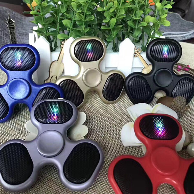 Finger Spinner With Bluetooth Light Speaker Music Fidget Spinner EDC Hand Spinner Decompression Toys For Kids