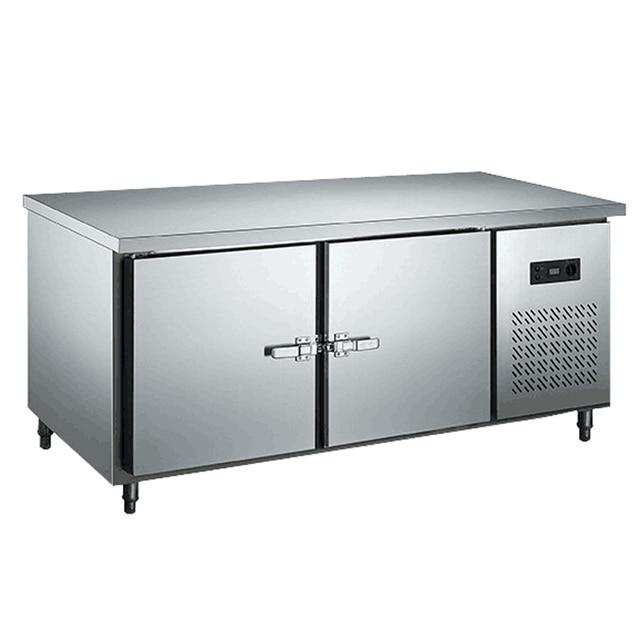 2 door stainless steel kitchen under counter worktop commercial