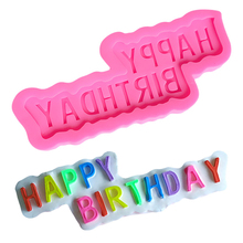 LYCFEP Happy Birthday Shape Cake Decorating Moulds Stampo Silicone Torta Form for Baking EP018320