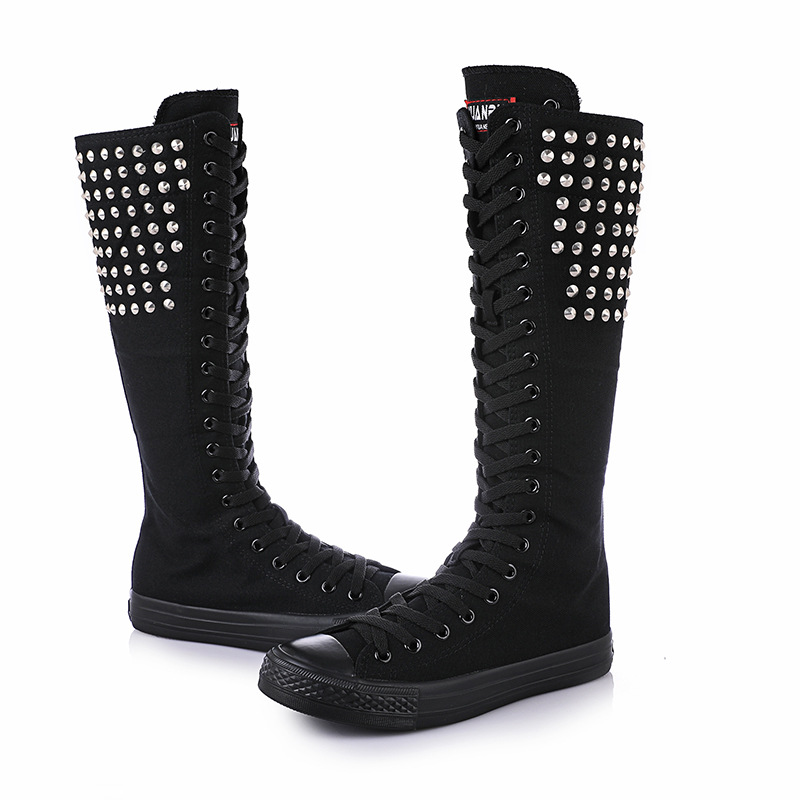 Loup f g Chaussures Superstar b Nouvelle A d 2018 Danse Le e c Femmes Tambour Presto Toile Haute Ultra h Nail Bottes Printemps Femelle Rivets OPXkiTZuw