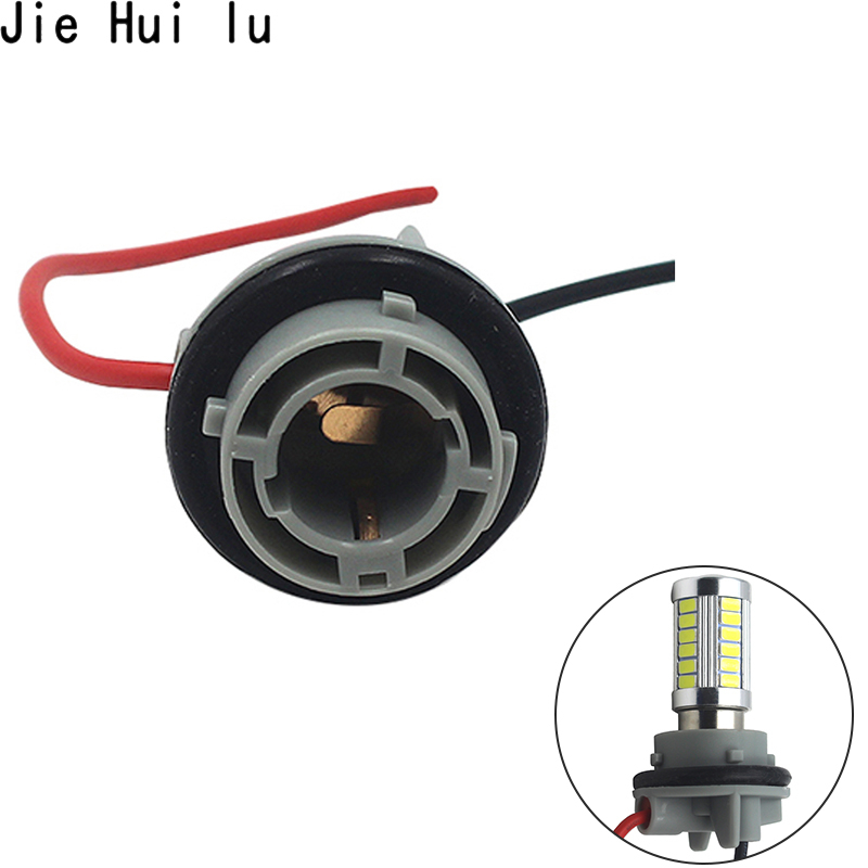 2pcs Car LED Light Bulbs holder <font><b>socket</b></font> plug adapter wiring harness Connector P21W 7528 1156 BA15S 1157 7443 7440 <font><b>Socket</b></font> base image