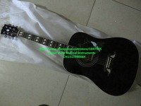 High Quality black DV Acoustic Guitar Wholesale Guitars Free Shipping Musical instruments