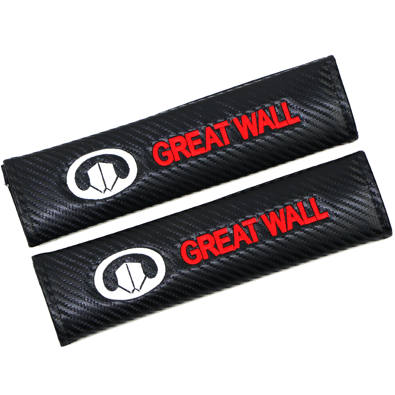 2pcs Car Cover Seat Belt Cover Pad Fit For Great Wall Haval Hover H3 H5