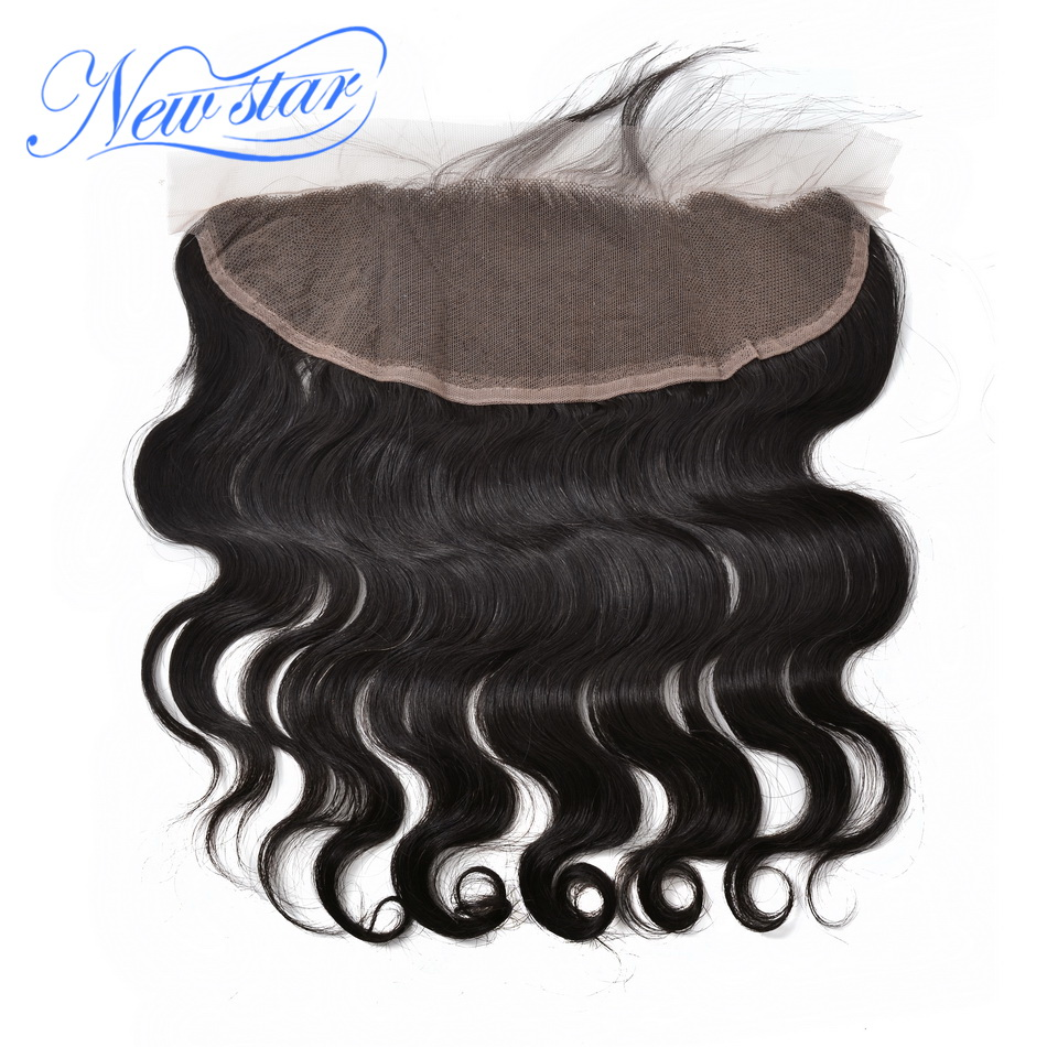 New Star Lace Frontal 13x4 Closure Brazilian Body Wave 100% Virgin Human Hair Free Part Pre Plucked Bleached Knot With Baby Hair