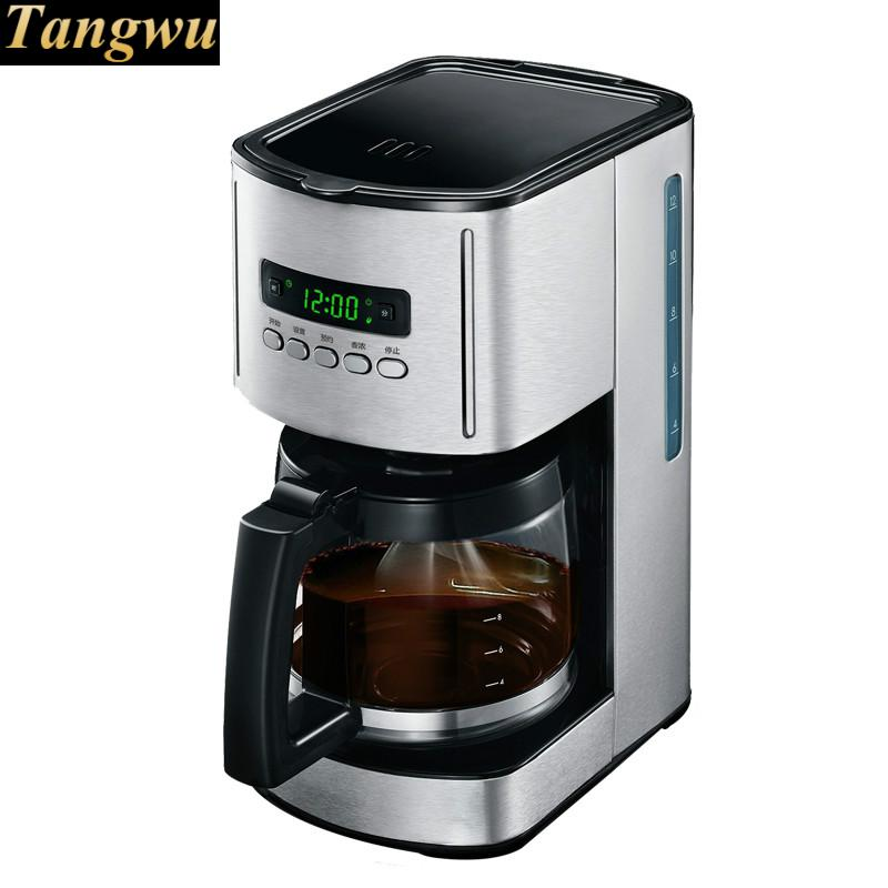 small American drip coffee machine pot with full automatic coffee machine home american style drip type fully automatic small mini coffee pot