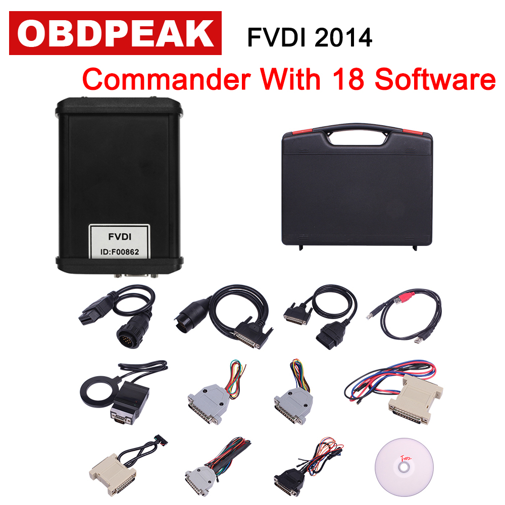Newest Diagnostic Scanner FVDI 2014 ABRITES Commander With 18 Software Auto Diagnostic 2014 Version with Car Chaeger Gift