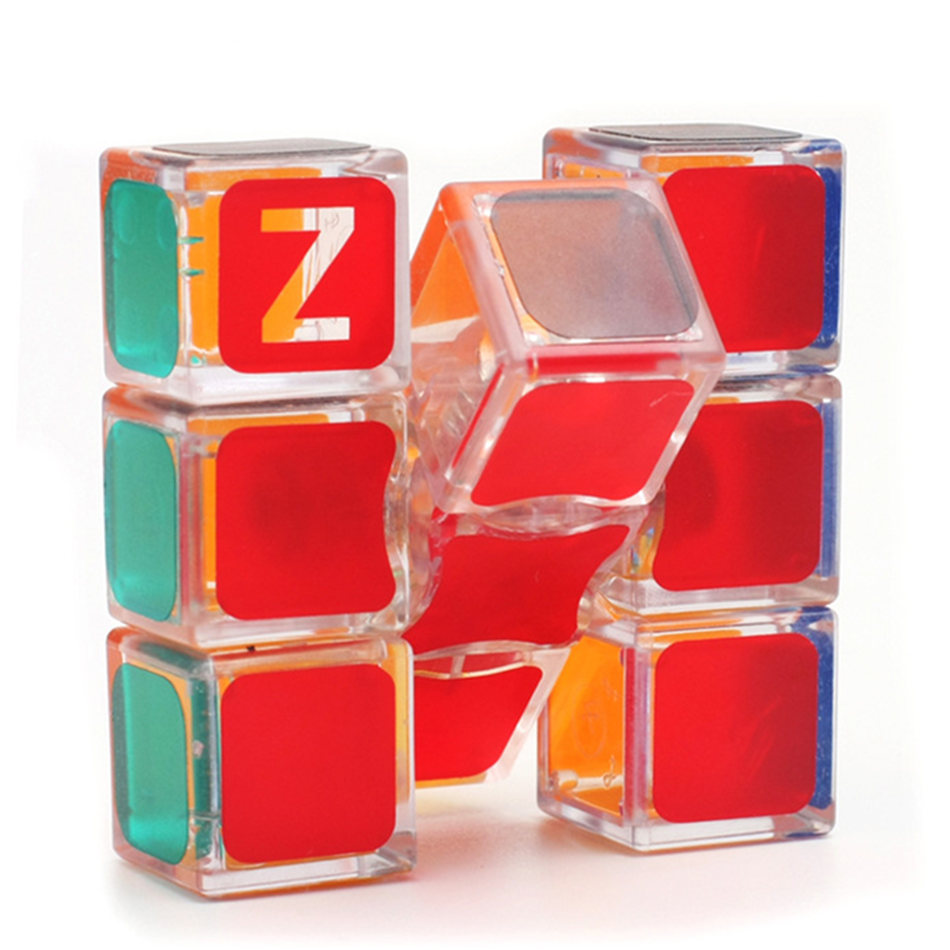 ZCBUE 1x3x3 Magic Cube 133 Transparent Magic Speed Cube Professional Puzzle Toys For Children Kids Gift Toy