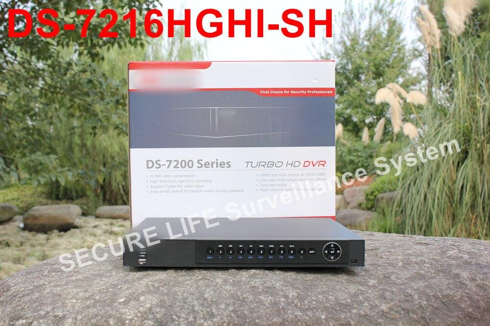 все цены на In stock English version DS-7216HGHI-SH 720P Turbo HD DVR 16ch Support HD-TVI/analog/IP camera triple hybrid онлайн